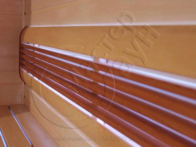 Сауна с подсветкой лавок - спинки - соленой стены - 1